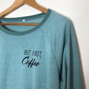 But First, Coffee ☕️Long sleeve super soft T-shirt